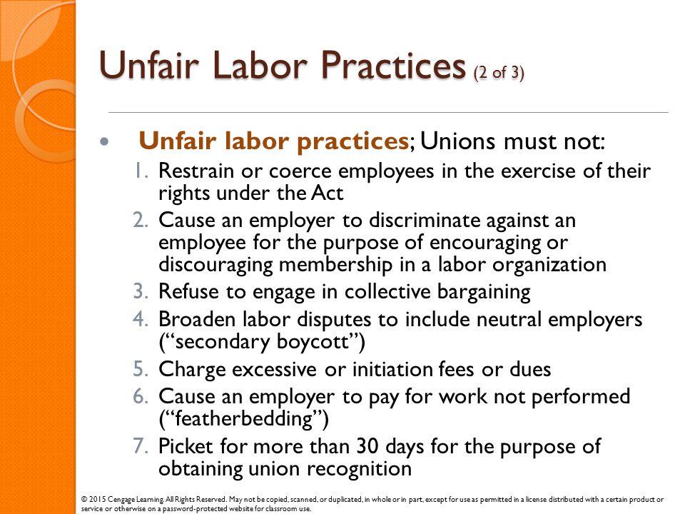 Unfair Labor Practices (2 of 3)