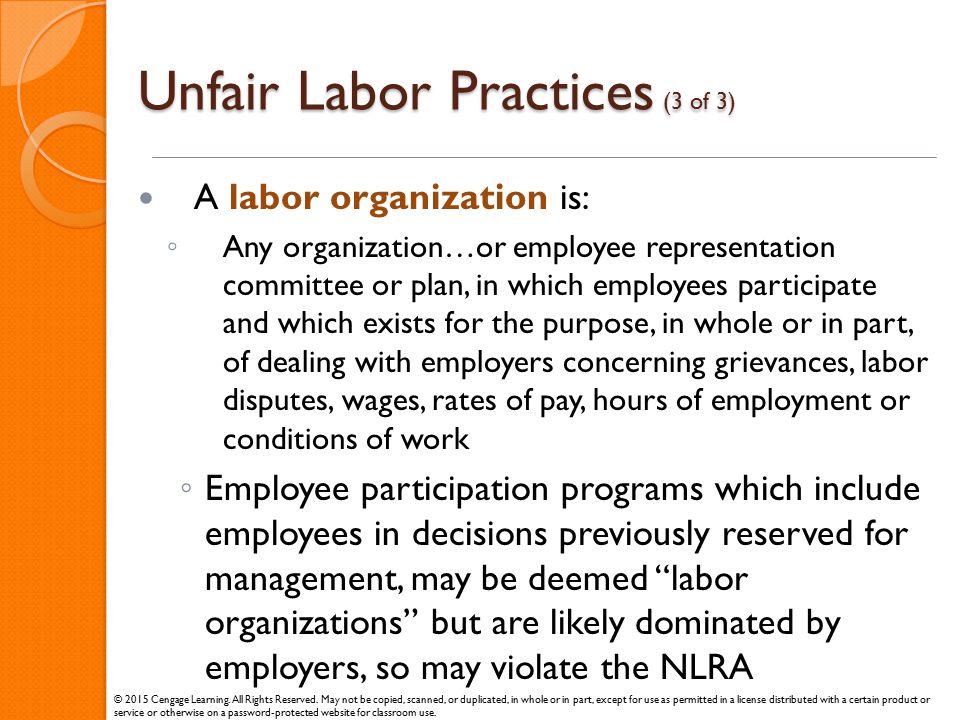 Unfair Labor Practices (3 of 3)