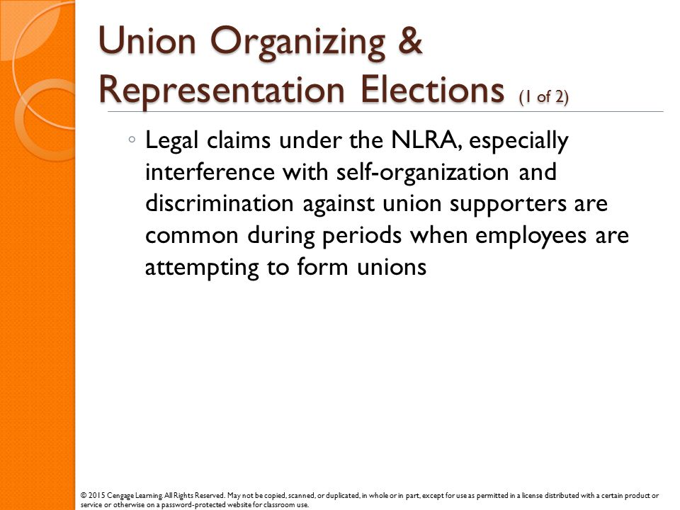 Union Organizing & Representation Elections (1 of 2)