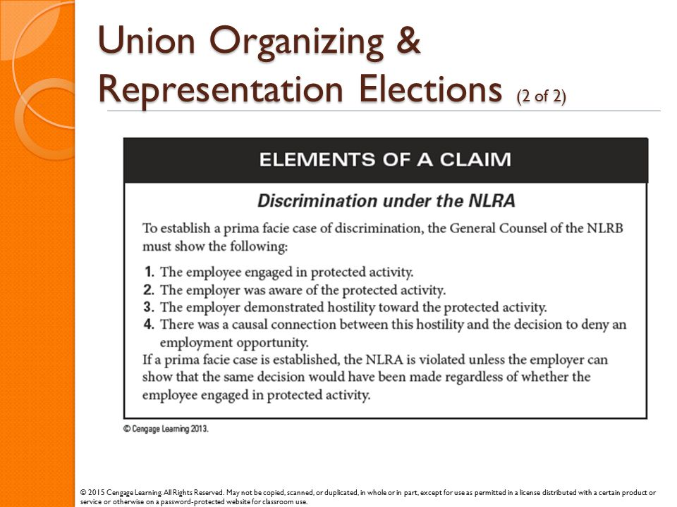 Union Organizing & Representation Elections (2 of 2)