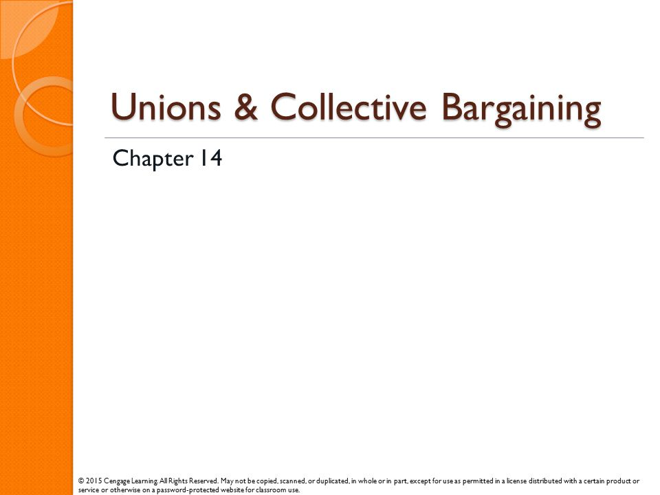 Unions & Collective Bargaining