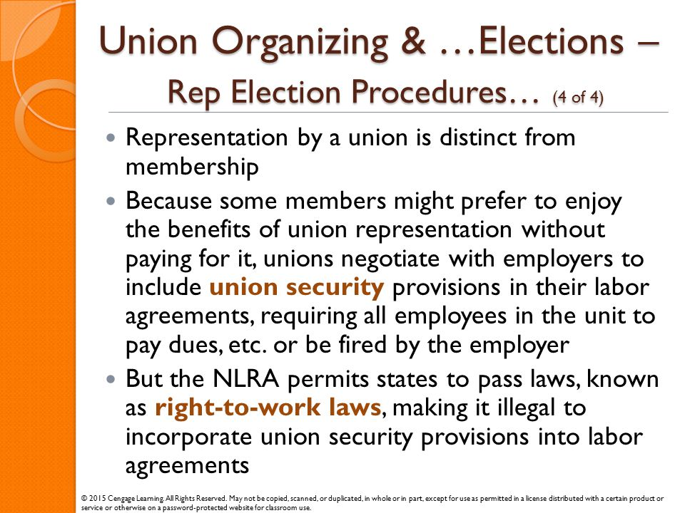 Union Organizing & …Elections – Rep Election Procedures… (4 of 4)