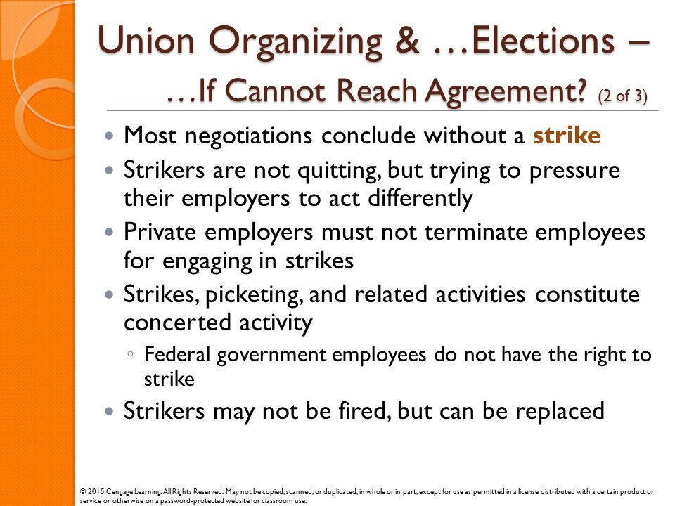 Union Organizing & …Elections – …If Cannot Reach Agreement (2 of 3)