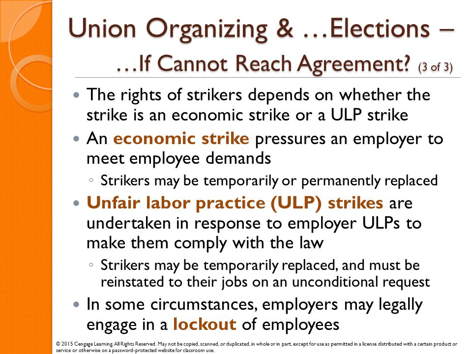 Union Organizing & …Elections – …If Cannot Reach Agreement (3 of 3)