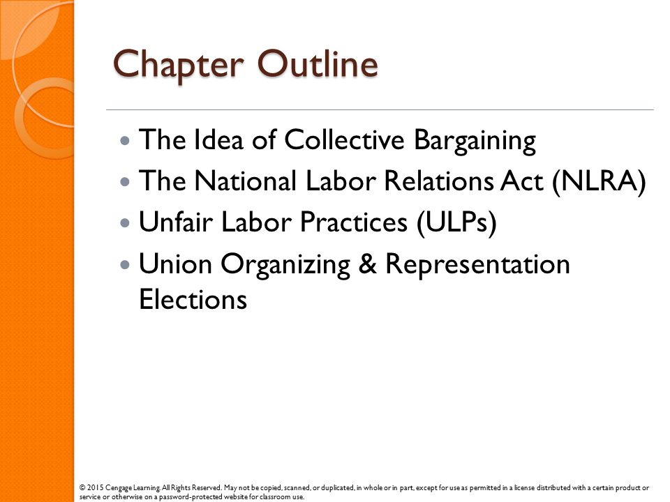 Chapter Outline The Idea of Collective Bargaining