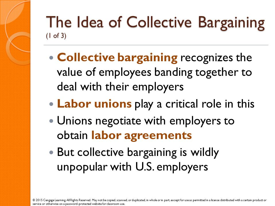 The Idea of Collective Bargaining (1 of 3)
