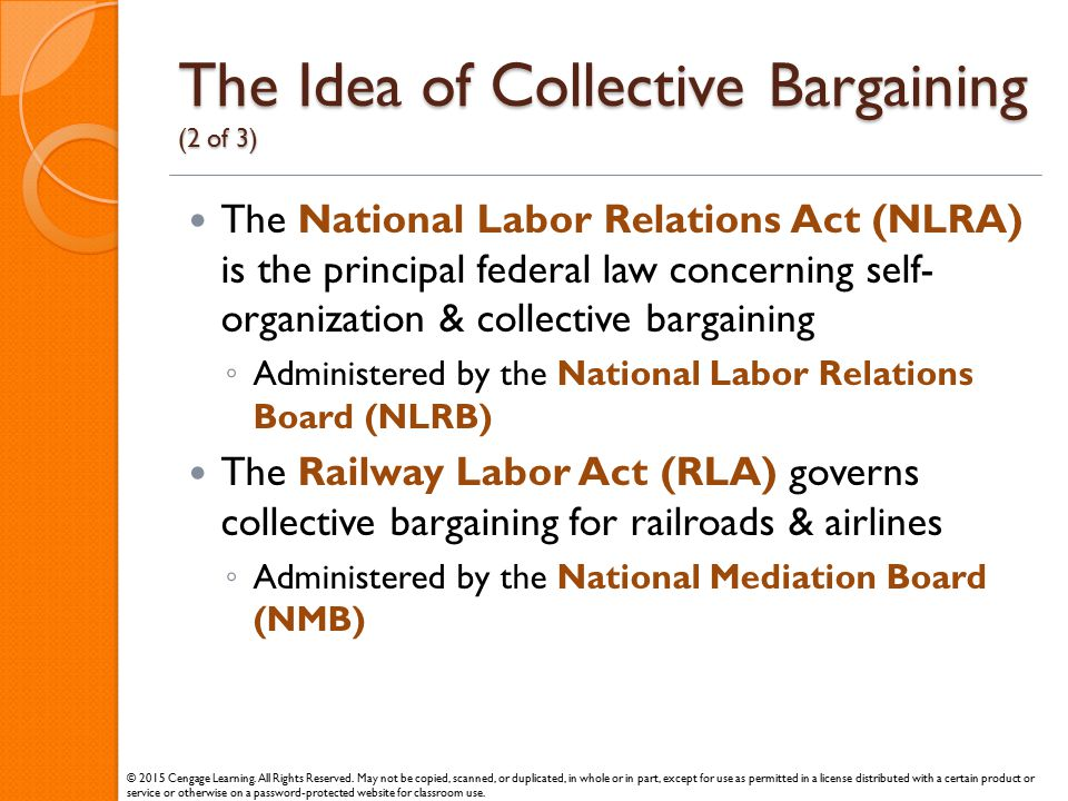 The Idea of Collective Bargaining (2 of 3)