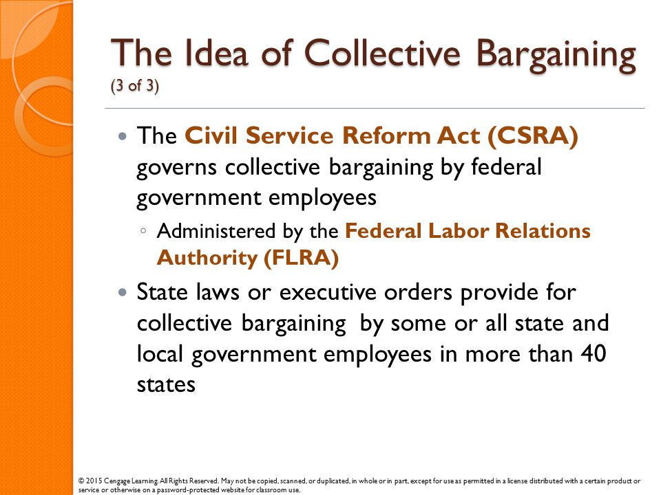 The Idea of Collective Bargaining (3 of 3)