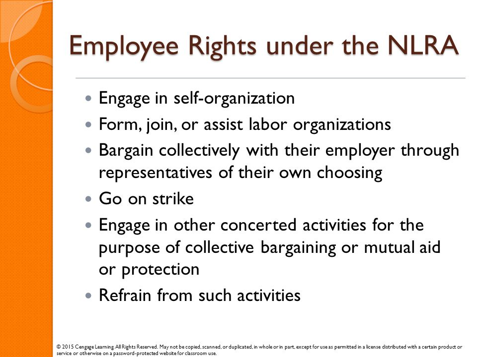 Employee Rights under the NLRA