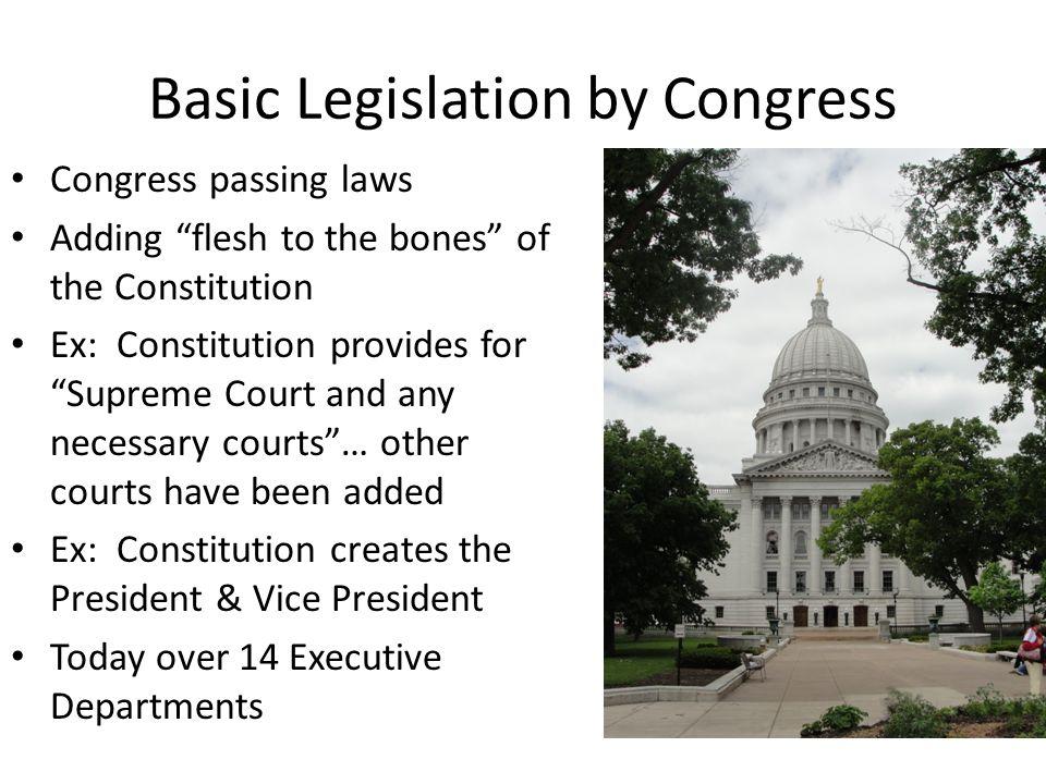 Basic Legislation by Congress