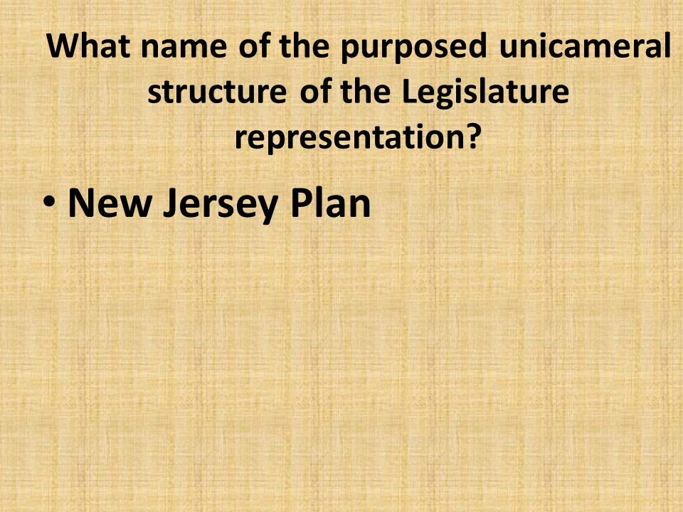 What name of the purposed unicameral structure of the Legislature representation