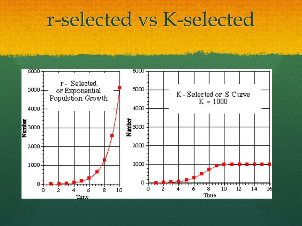 r-selected vs K-selected
