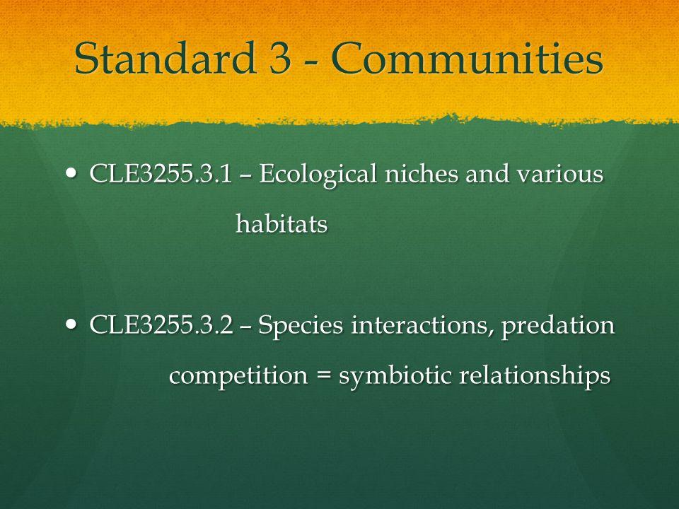 Standard 3 - Communities