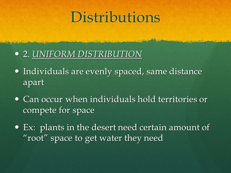 Distributions 2. UNIFORM DISTRIBUTION