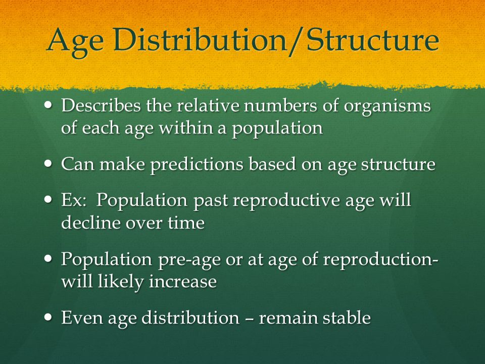 Age Distribution/Structure