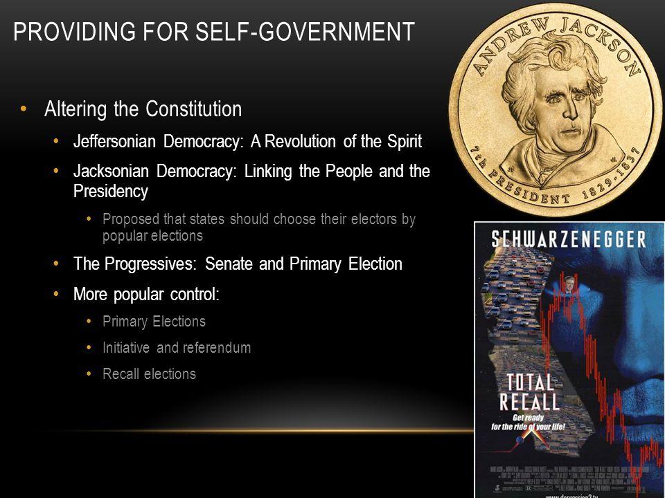 Providing for Self-Government