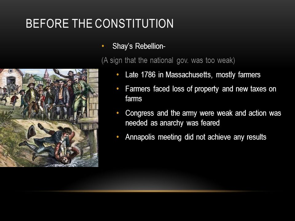 Before the Constitution