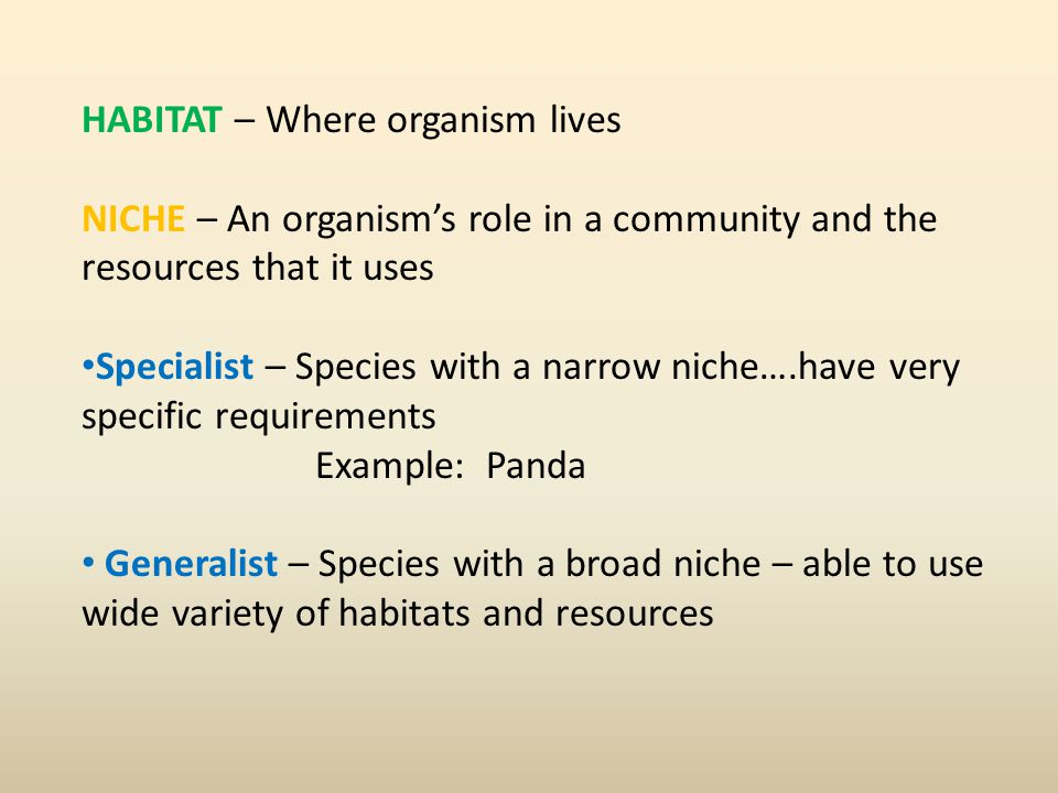 HABITAT – Where organism lives