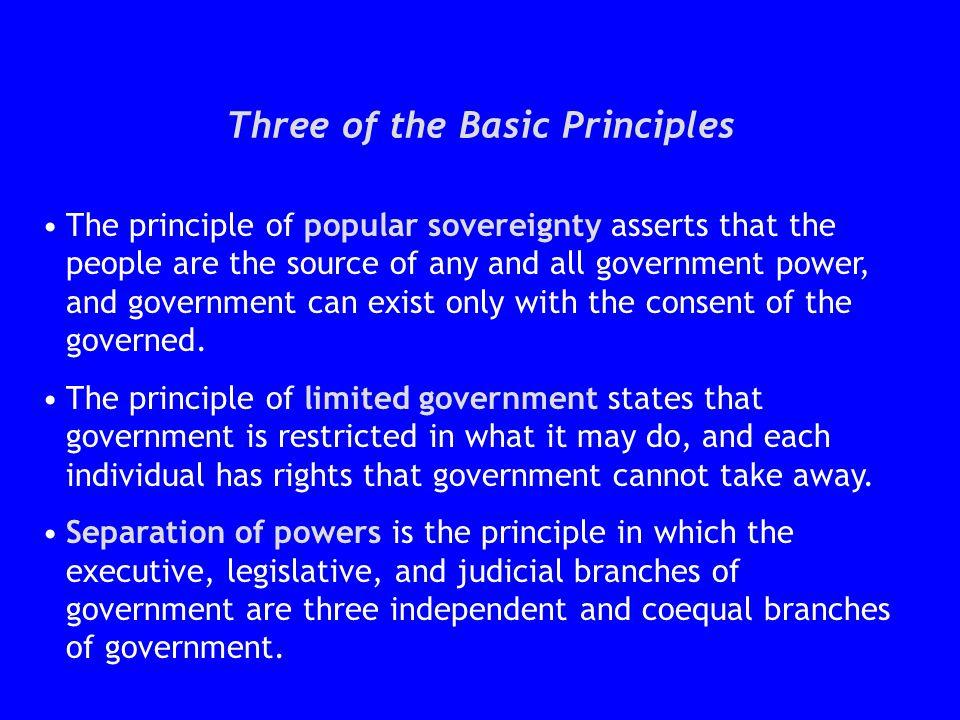 Three of the Basic Principles