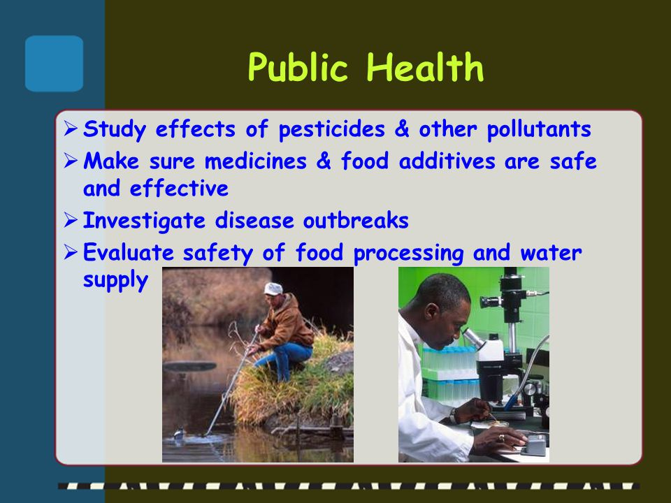 Public Health Study effects of pesticides & other pollutants