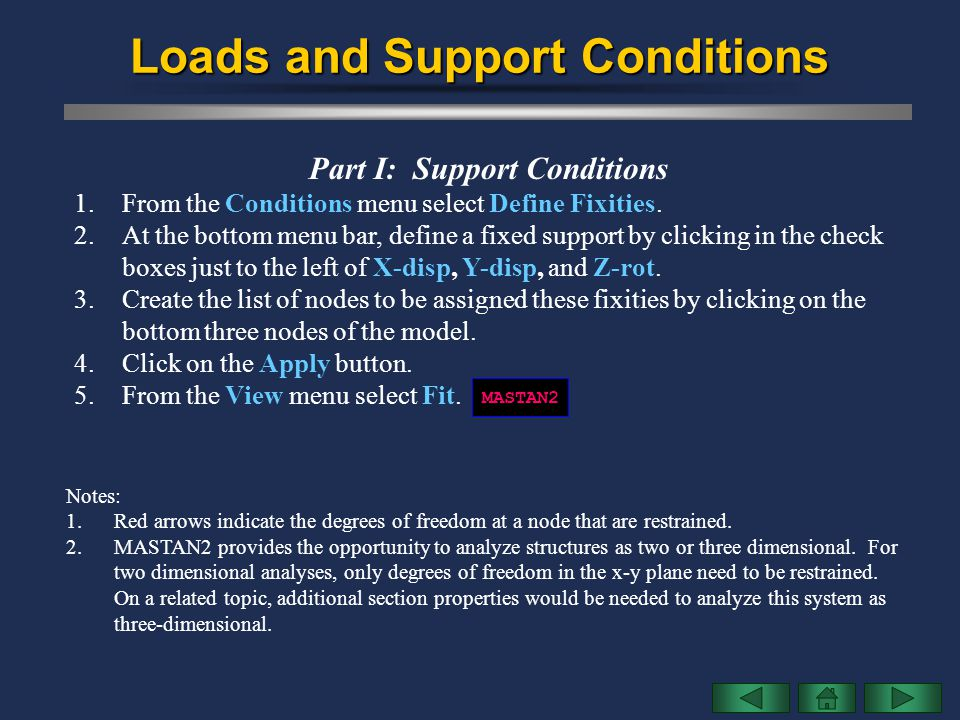 Loads and Support Conditions