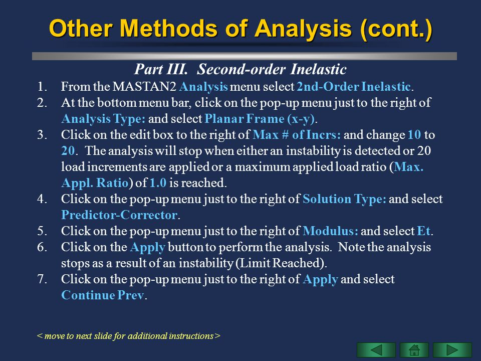 Other Methods of Analysis (cont.)