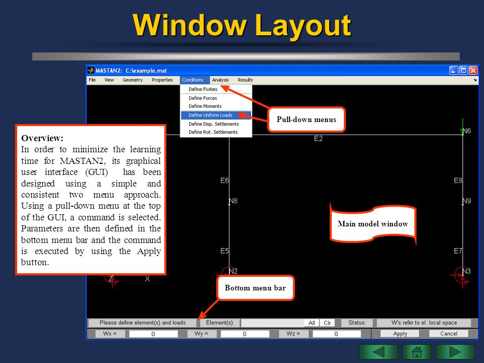 Window Layout Overview: