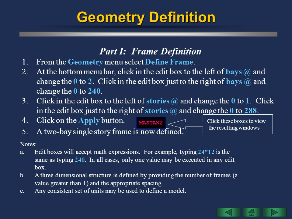 Part I: Frame Definition