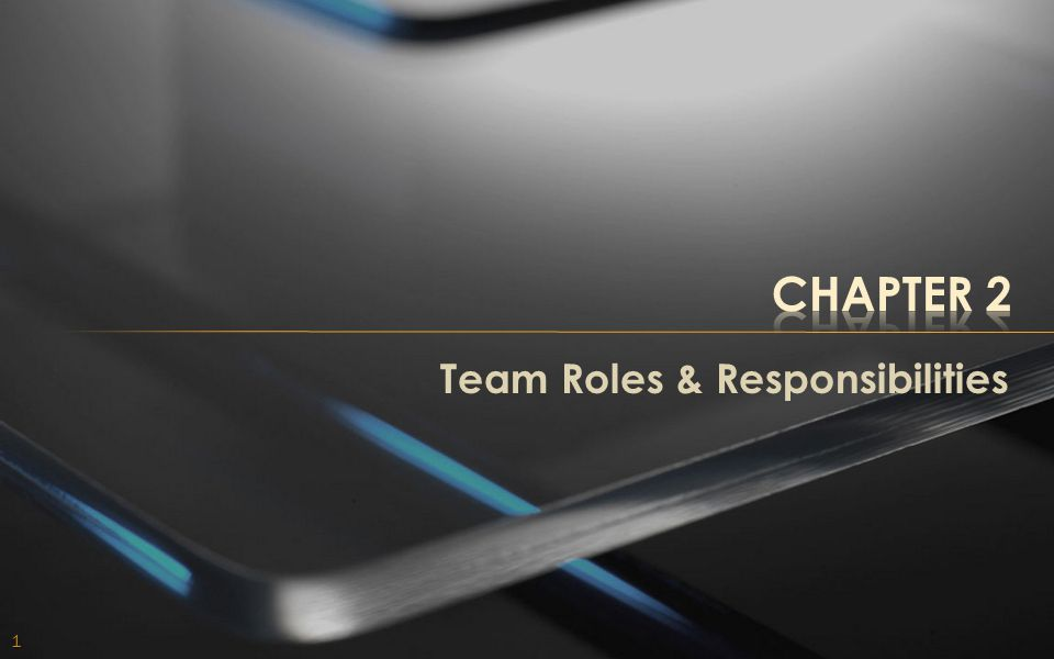 Chapter 2 Team Roles & Responsibilities