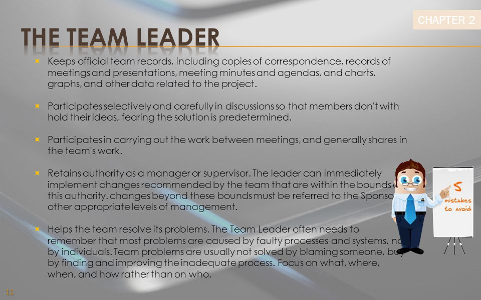 The team leader