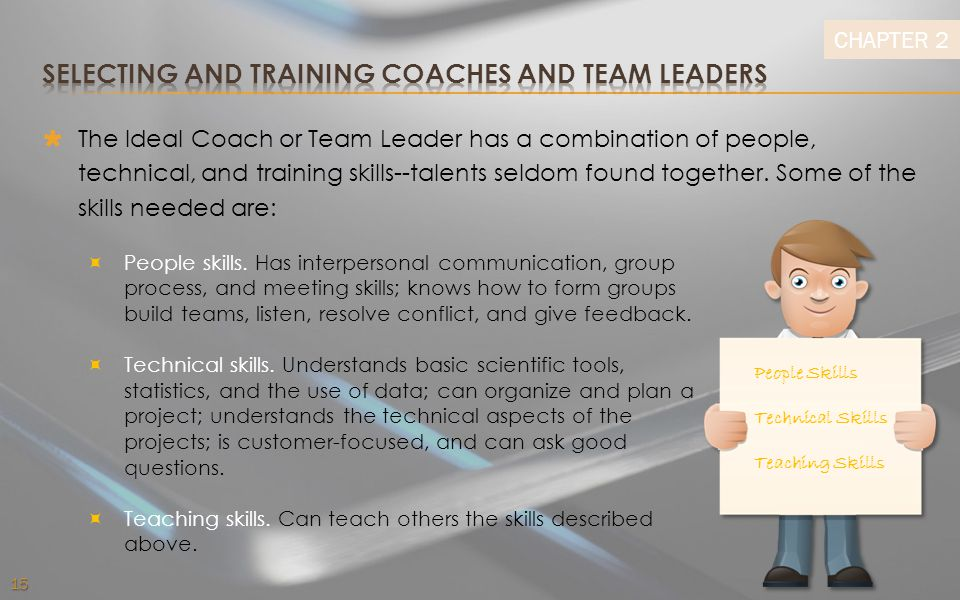 Selecting and Training Coaches and Team Leaders