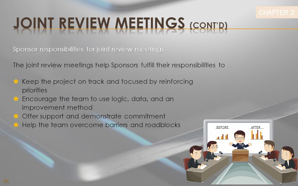 JOINT REVIEW MEETINGS (CONT'D)