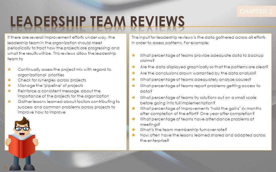 LEADERSHIP TEAM REVIEWS