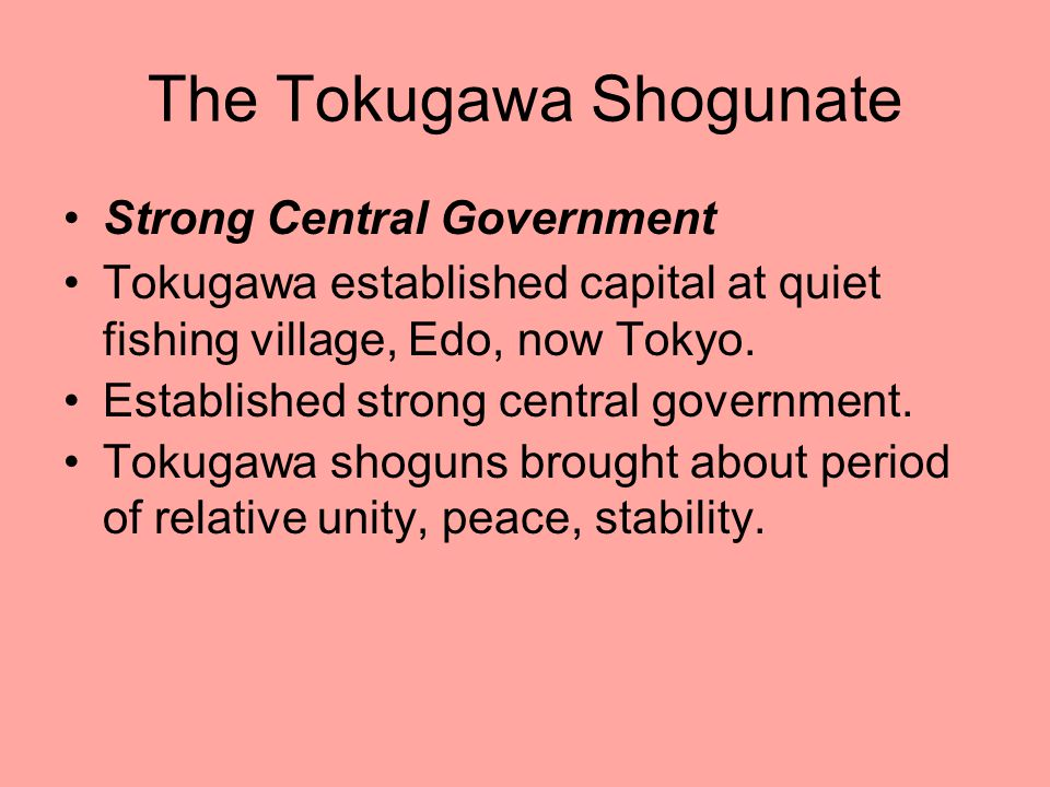 The Tokugawa Shogunate