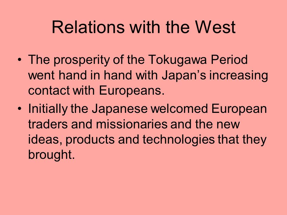 Relations with the West