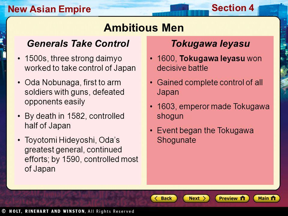 Ambitious Men Generals Take Control Tokugawa Ieyasu