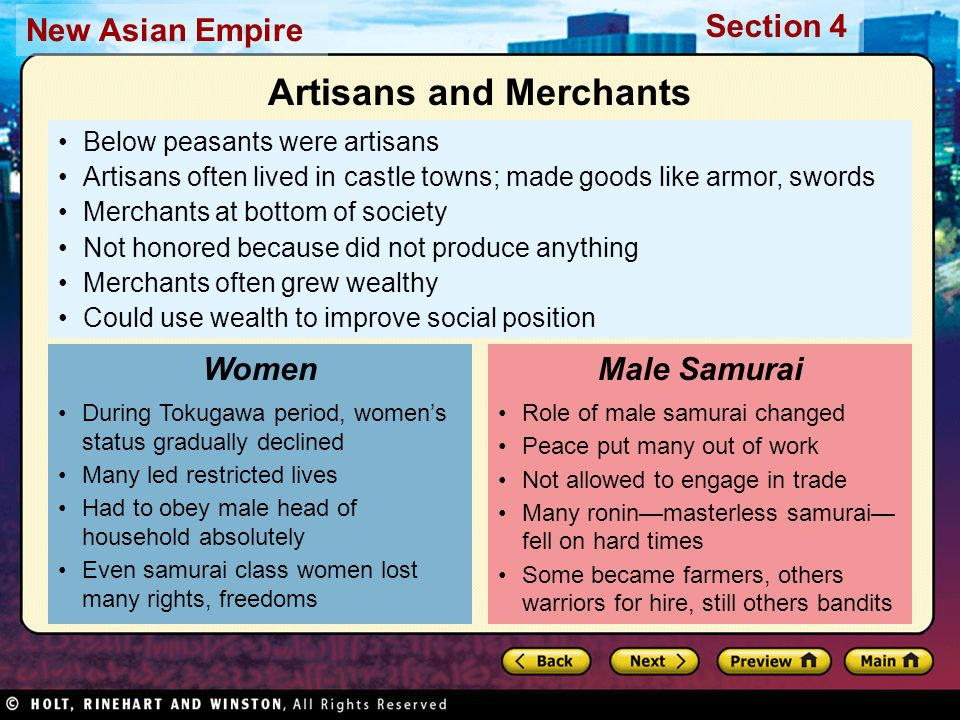 Artisans and Merchants