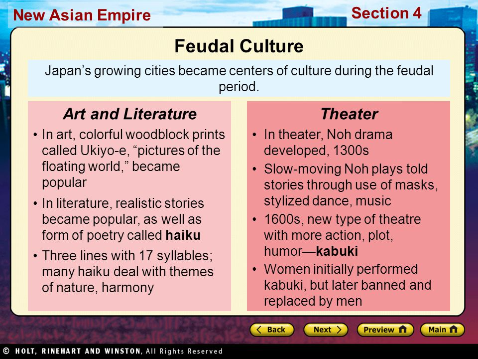 Feudal Culture Art and Literature Theater