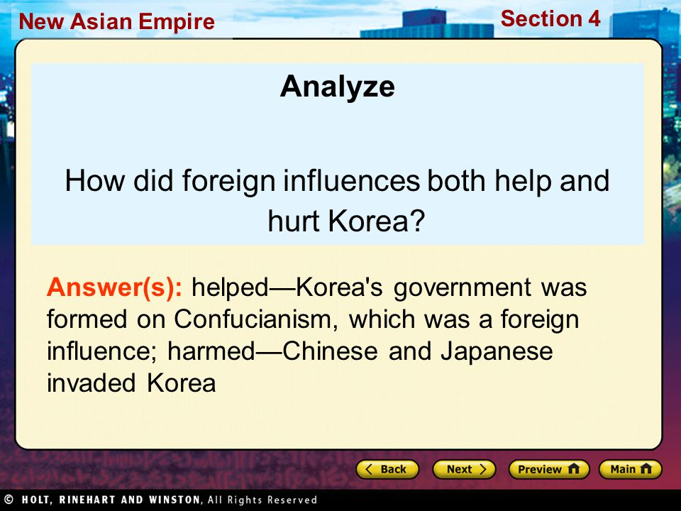 How did foreign influences both help and hurt Korea