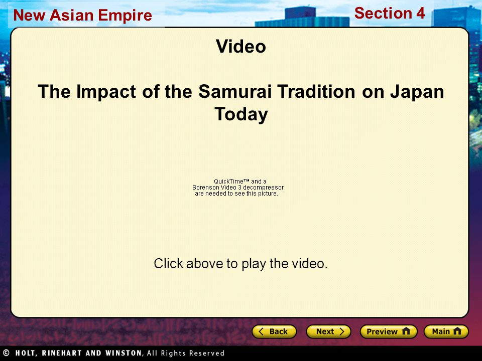 Video The Impact of the Samurai Tradition on Japan Today