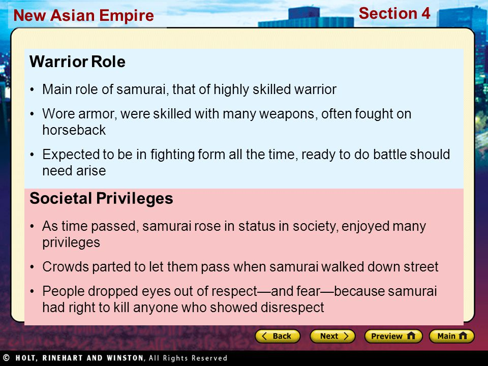 Warrior Role Societal Privileges