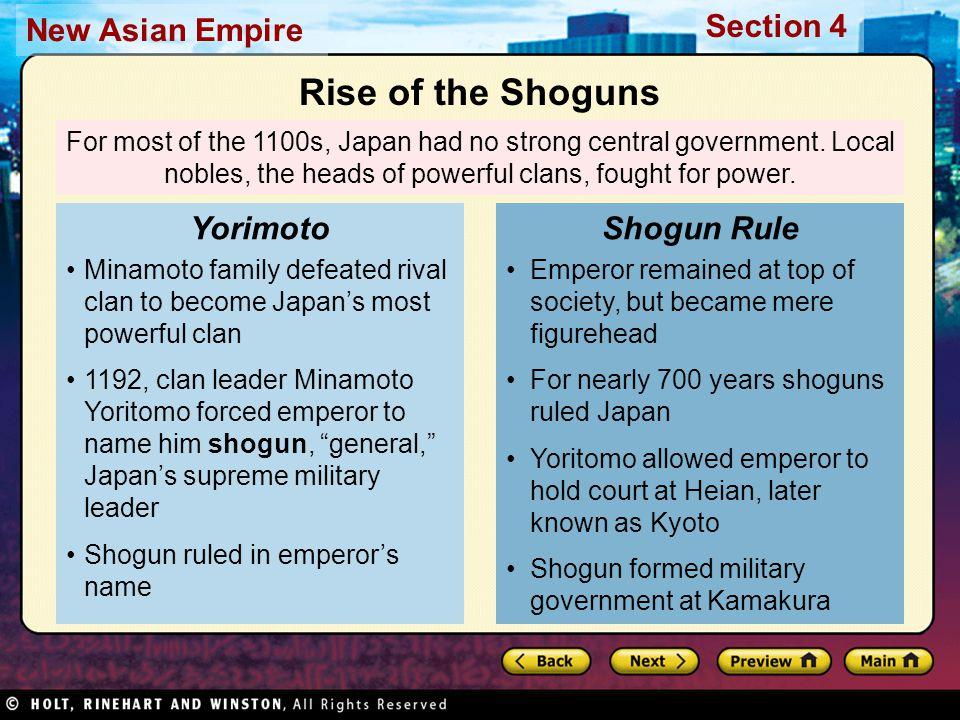 Rise of the Shoguns Yorimoto Shogun Rule