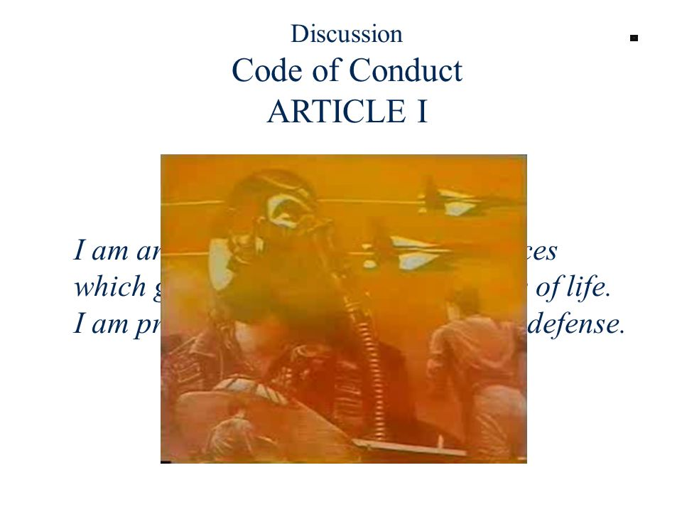 Discussion Code of Conduct ARTICLE I