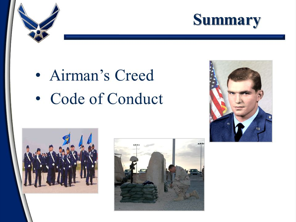 Summary Airman's Creed Code of Conduct 1 1