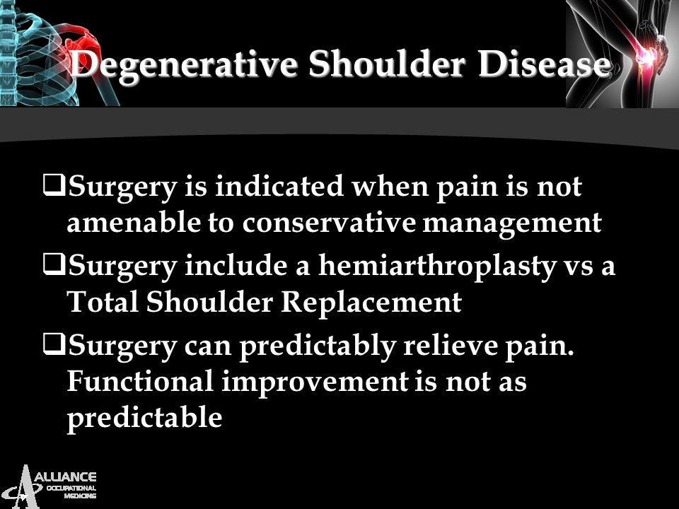 Degenerative Shoulder Disease