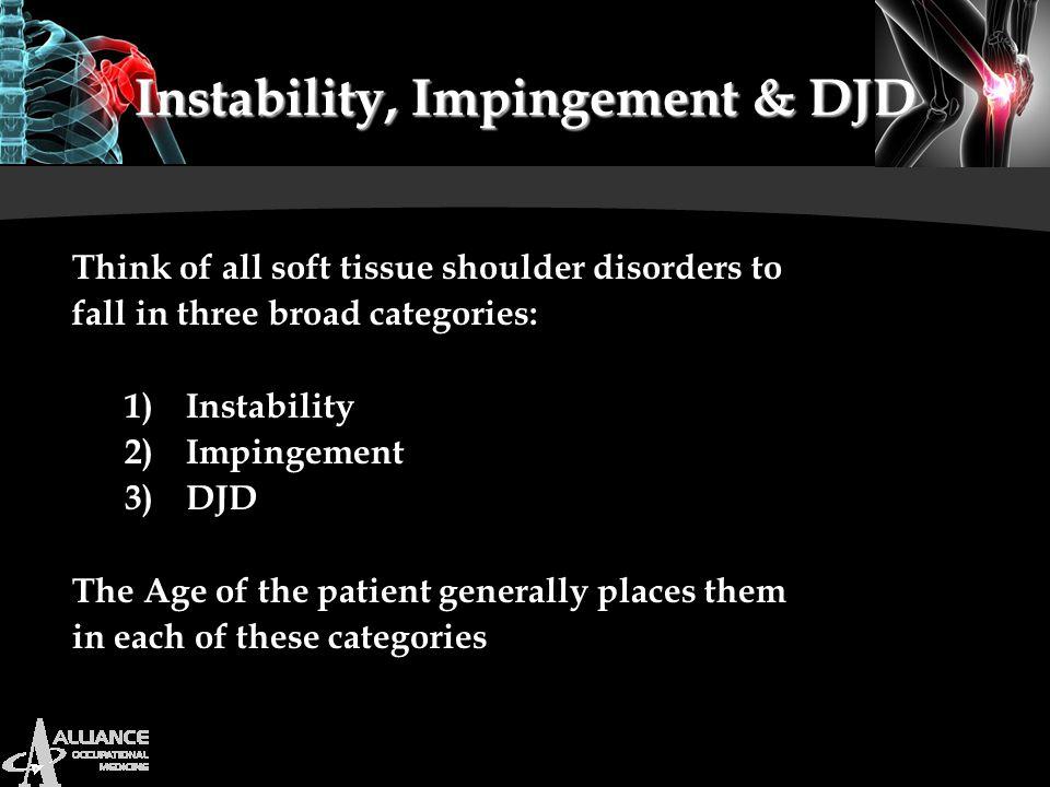 Instability, Impingement & DJD