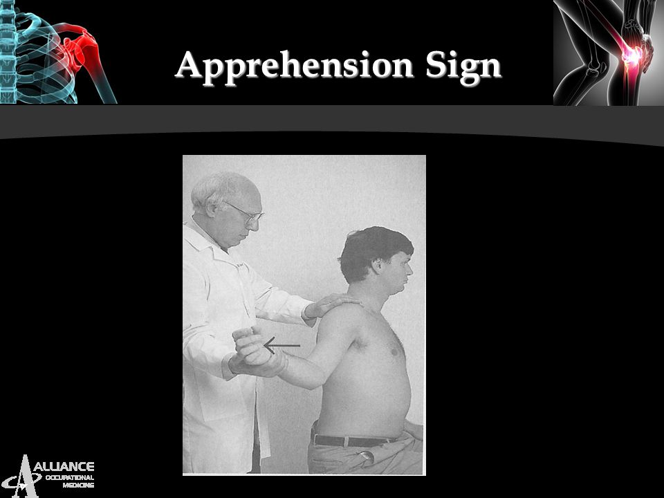 Apprehension Sign