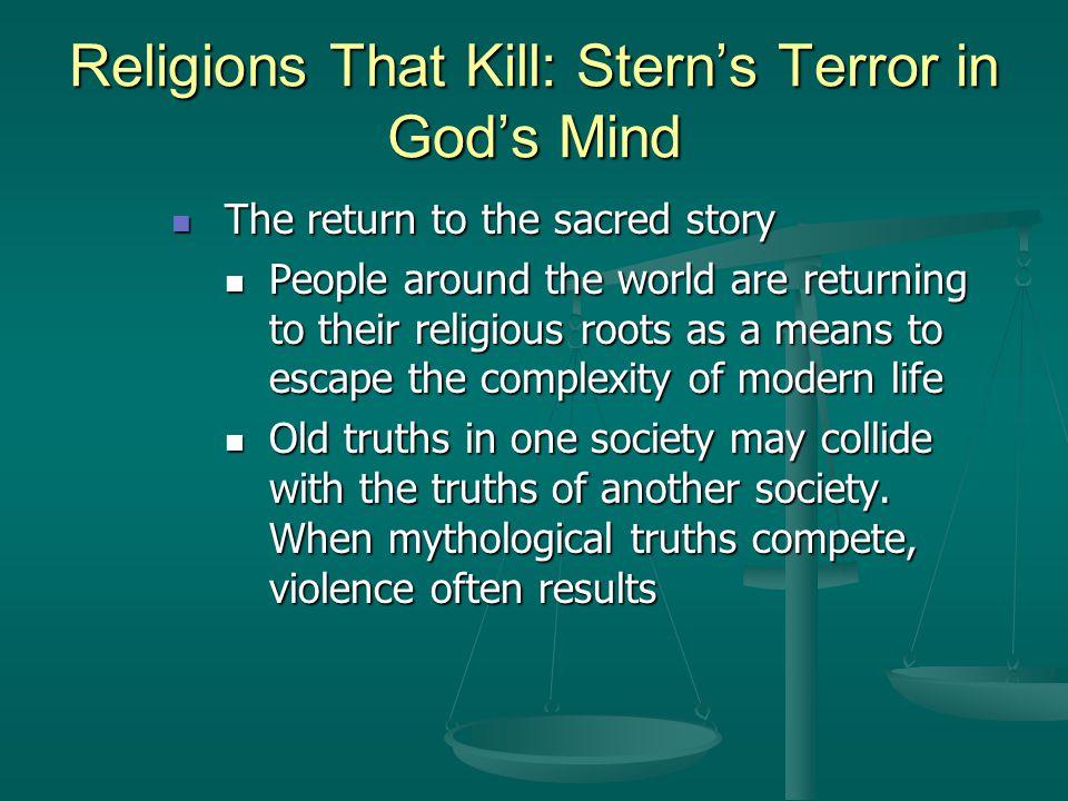 Religions That Kill: Stern's Terror in God's Mind