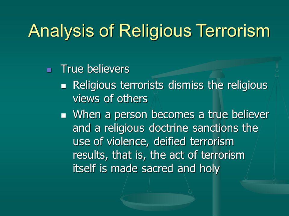 Analysis of Religious Terrorism