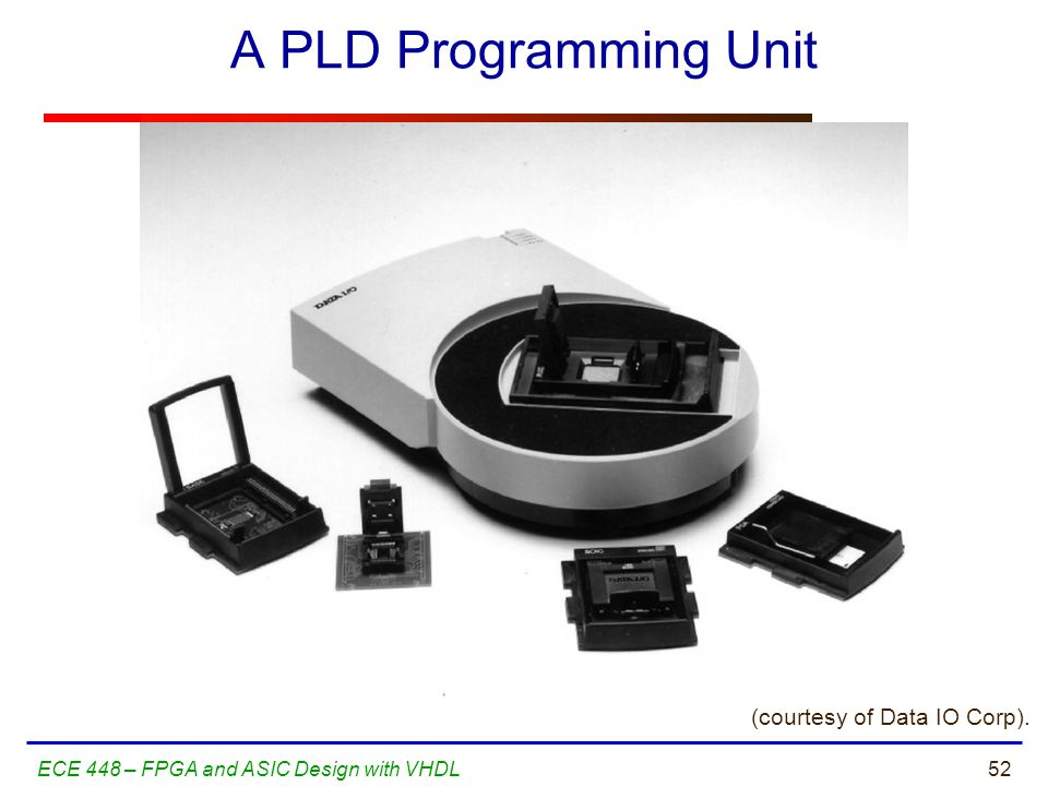 A PLD Programming Unit (courtesy of Data IO Corp).